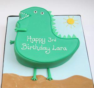 Mr Dinosaur Cake from Peppa Pig