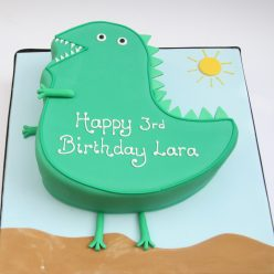 Mr Dinosaur Cake from Peppa Pig