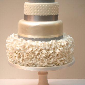 Ruffle dress cake