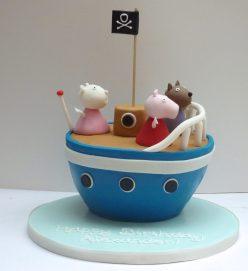 Grandpa Pig's Boat Cake