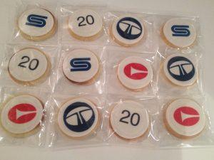 Bespoke logo biscuits