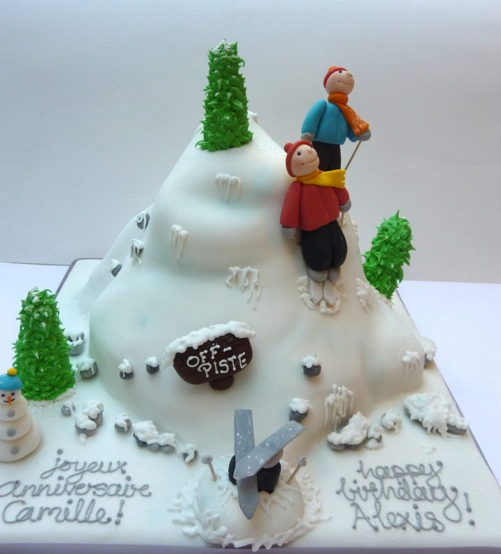 Skiing Birthday Cake