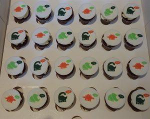 Printed Dinosaur Cupcakes