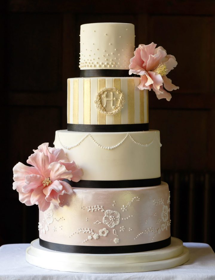 Parisian Inspired Wedding Cake