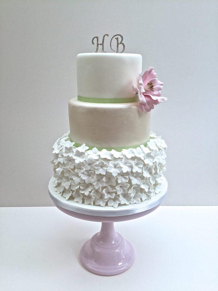 Hydrangea Skirt Cake