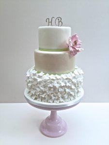 Hydrangea Skirt Wedding Cake