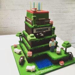 Large Minecraft Cake