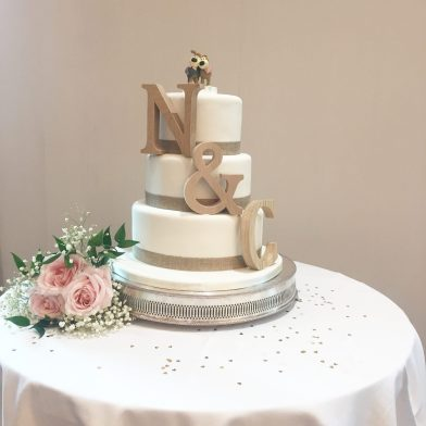 Rustic Letter Wedding Cake