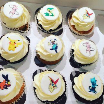 Printed Pokemon Cupcakes