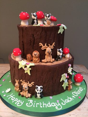 Woodland Animals Cake