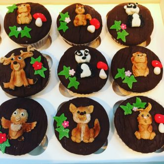 Woodland Animals Cup Cakes