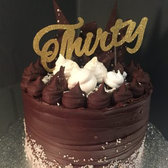 30th Ganache Birthday Cake