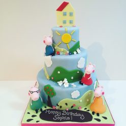 Large Tiered Peppa Pig Cake