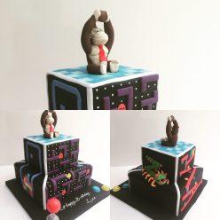 Donkey Kong Retro Gaming Cake