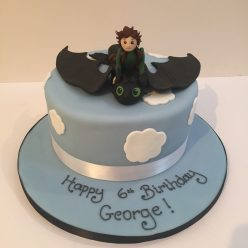 Flying Toothless Cake - How to Train A Dragon Birthday Cake