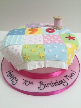 Patchwork Sewing Cake