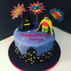 Lego Batman and Robin Birthday Cake