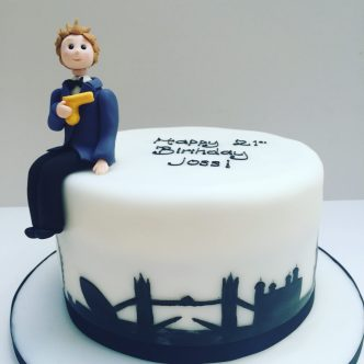 London James Bond cake