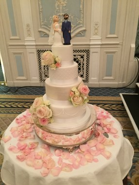 Classically Elegant Wedding Cake at the Savoy in London