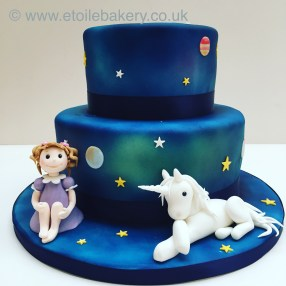 Space and Unicorn Cake