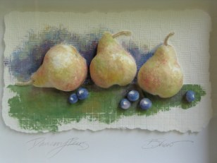 Pears and blueberries