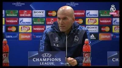 المؤتمر الصحفى لزيدان ورونالدو قبل مواجهة ريال مدريد روما فى دورى الابطال