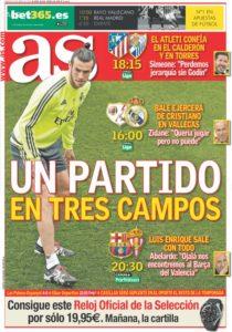 صحف مدريد السبت 23-4-2016 الاس