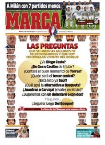 صحف مدريد الثلاثاء 17-5-2016 ماركا