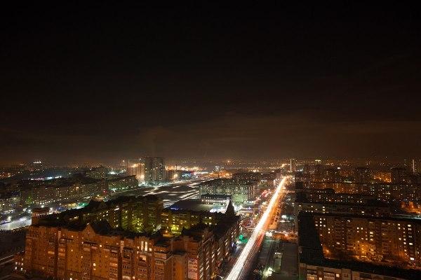 Ночной Красноярск с высоты. Фото: Паша Парамонов – Это Сибирь!