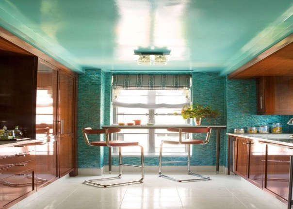 Lacquered Ceiling - 10 Best Kitchen Renovation Ideas for 2019 on a Budget - ET Painting