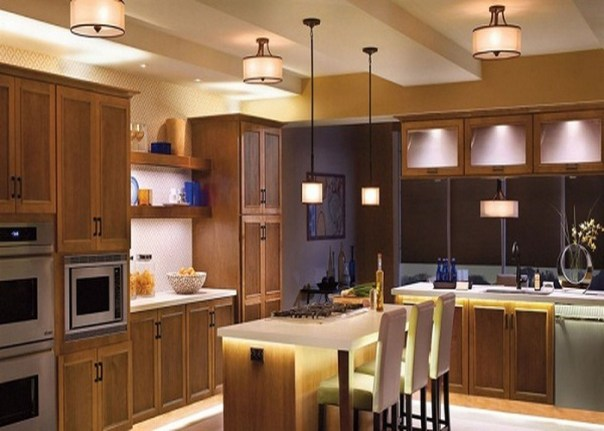 Let You Kitchen Shine with Layer Lighting - Kitchen Renovation Ideas 2019 - ET Painting