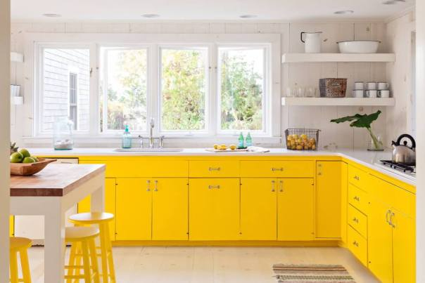 Yellow Modern Kitchen Color