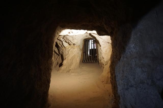 Dans une ancienne mine d'argent de Calico en Californie