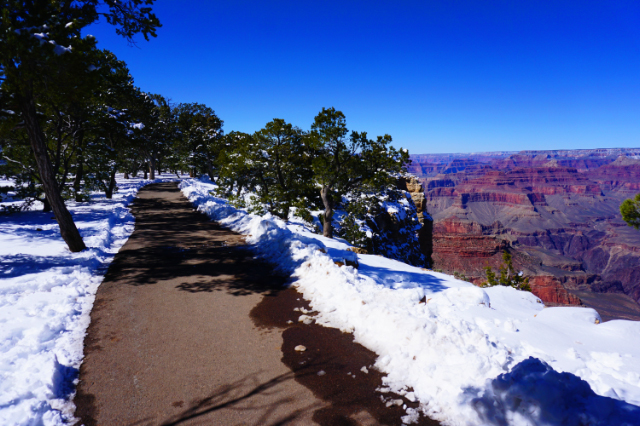 Le sentier du Grand Canyon (South Rim), Arizona