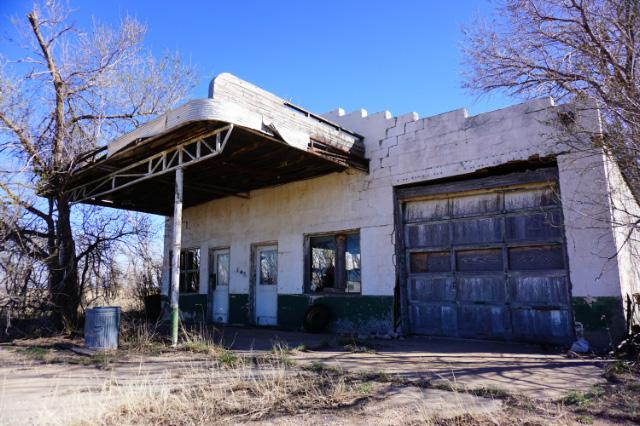 Un garage abandonnée le long de la Route 66