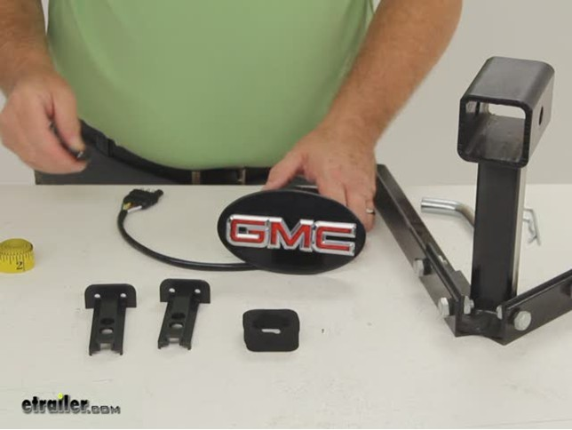 GMC LED Lighted Trailer Hitch Cover