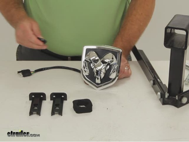 Ram LED Lighted Trailer Hitch Cover