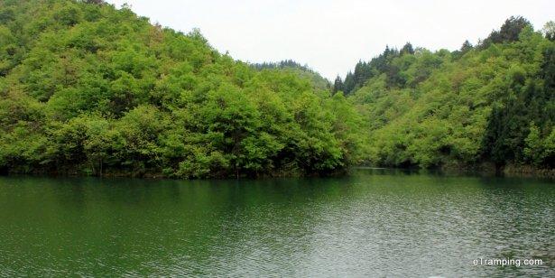 Lake in ZhangJiaJie mountains