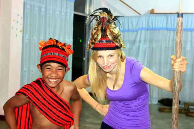 Banaue, the Philippines, learning the local dance (2)