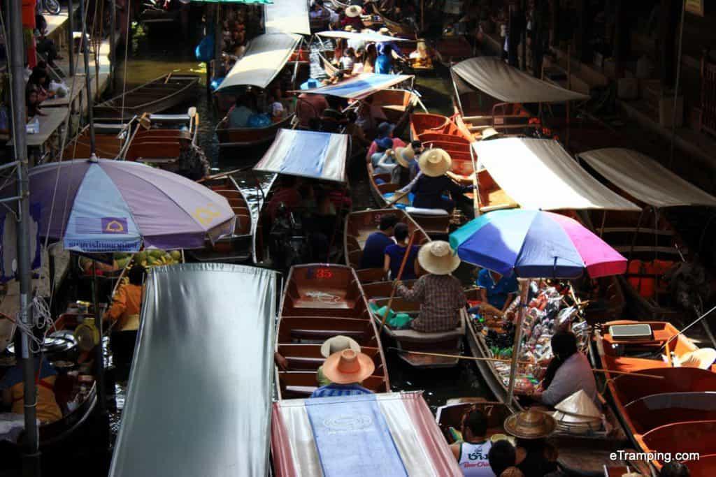Busy Floating Village Market