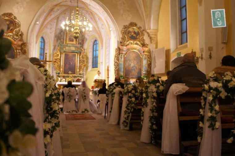 Polish church and wedding