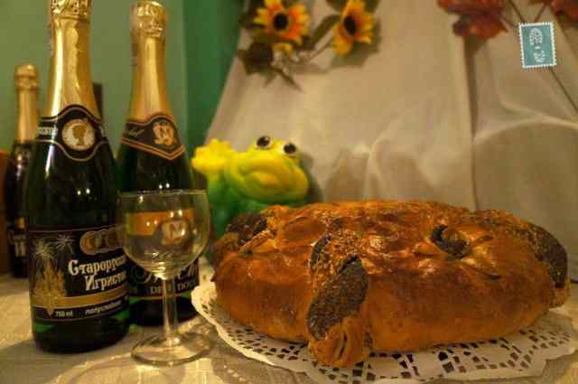 Champagne and the fresh bread