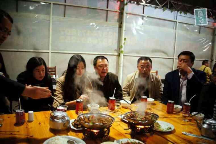 Kolacja z chińskimi nauczycielami