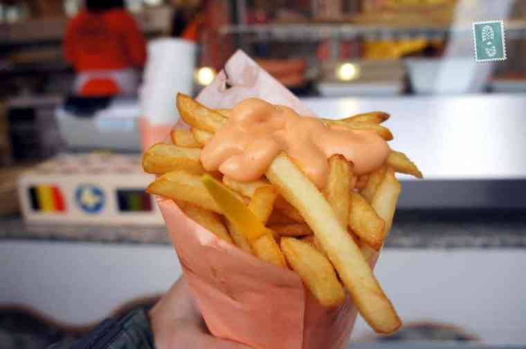 My huge portion of Belgian chips