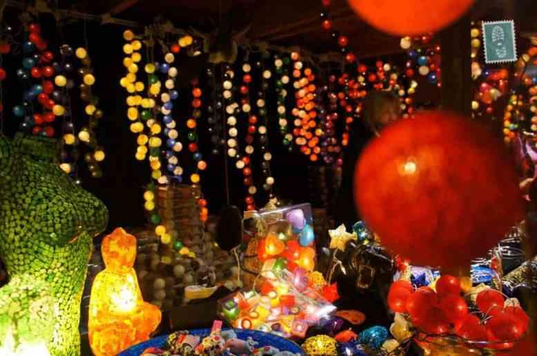 Christmas lanterns and lights