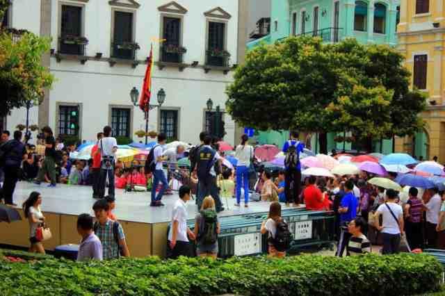 Demonstration at Senado Square in Macau