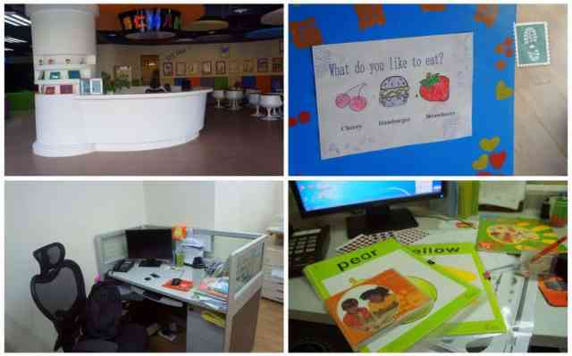 Bowen Kindergarten: the reception and my office desk