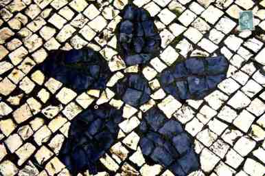 Portuguese style pavement in Macau - Flower