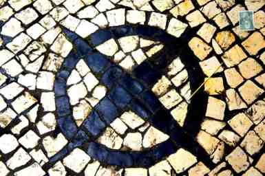 Portuguese style pavement in Macau - Star in a circle