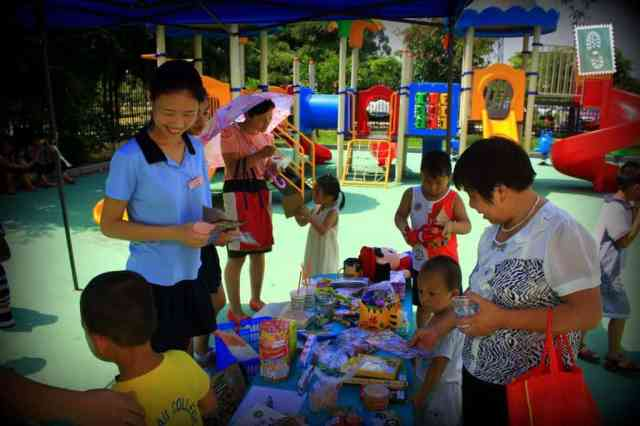 Our students purchasing some toys